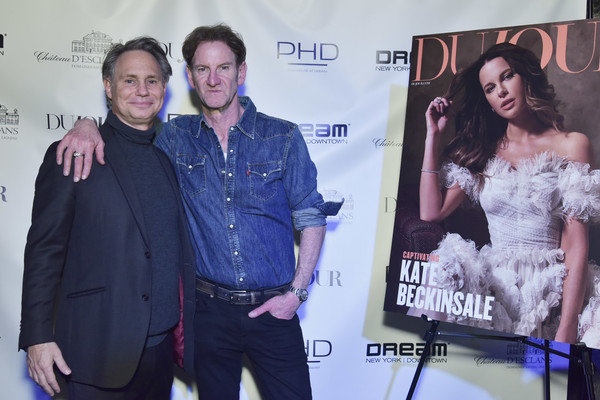 DuJour Cover Star Kate Beckinsale Celebrates Spring Issue With CEO And Founder Jason Binn