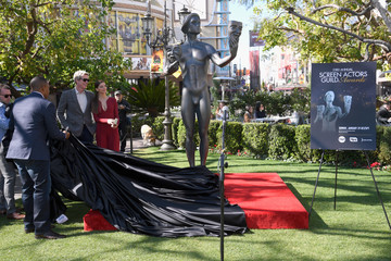 Jason George Angela Sarafyan The 23rd Annual Screen Actors Guild Awards - Greet the Actor at The Grove