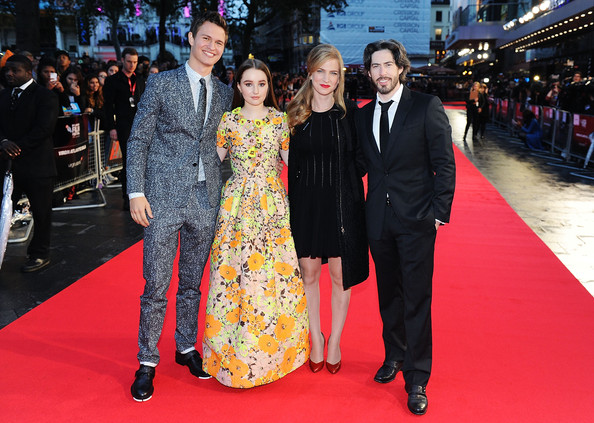 'Men, Women & Children' Premieres in London [red carpet,carpet,flooring,premiere,event,fashion,dress,suit,formal wear,ceremony,jason reitman,helen estabrook,ansel elgort,kaitlyn dever,european,odeon covent garden,men women children,paramount pictures,premiere,european premiere]