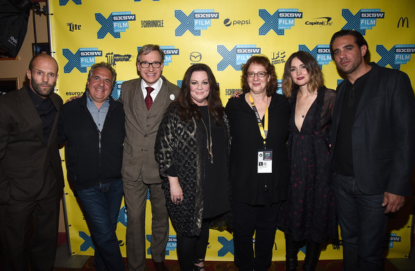 Jason Statham Jim Gianopulos Bobby Cannavale Rose Byrne Melissa Mccarthy Paul Feig Janet Pierson Jason Statham And Melissa Mccarthy Photos Spy 2015 Sxsw Music Film Interactive Festival Zimbio
