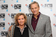 Viggo Mortensen and Helle Ulsteen attend the red carpet arrivals of 'Jauja' during the 58th BFI London Film Festival at Vue Leicester Square on October 17, 2014 in London, England.