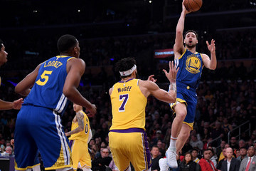 Javale Mcgee Klay Thompson Golden State Warriors v Los Angeles Lakers