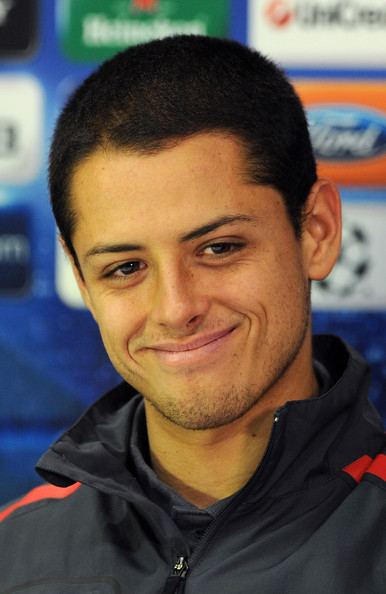 Javier Hernandez Javier Hernandez of Manchester United smiles during a press conference ahead of the UEFA - Javier%2BHernandez%2BManchester%2BUnited%2BTraining%2Bj0cjD_0jKsDl