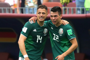 Javier Hernandez Hirving Lozano Germany vs. Mexico: Group F - 2018 FIFA World Cup Russia