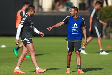 Javier Hernandez Marco Fabian Mexico Training Session and Press Conference