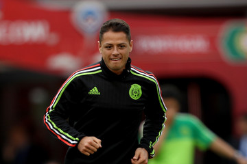 Javier Hernandez Mexico Training & Press Conference - FIFA Confederations Cup Russia 2017