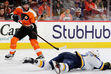 Jay Bouwmeester St Louis Blues v Philadelphia Flyers