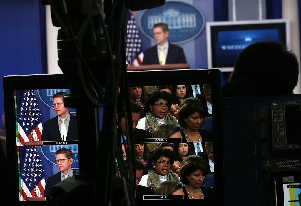 Jay Carney Holds Daily Press Briefing At White House 2 of ...