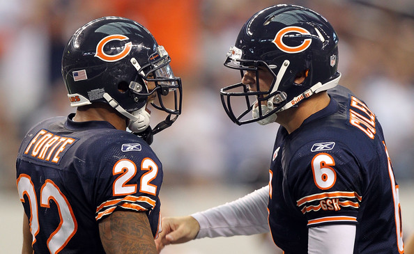 Jay Cutler and Matt Forte - Chicago Bears v Dallas Cowboys
