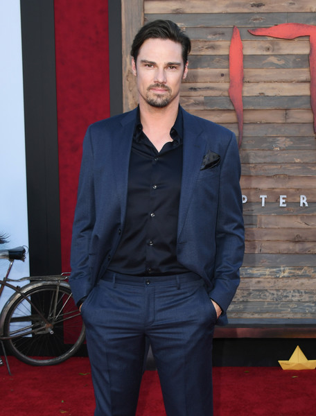 Premiere Of Warner Bros. Pictures' 'It Chapter Two' - Arrivals [it chapter two,suit,premiere,blazer,carpet,outerwear,formal wear,flooring,red carpet,jeans,facial hair,arrivals,jay ryan,california,regency village theatre,warner bros. pictures,westwood,premiere]