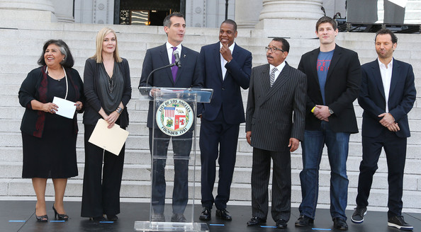 Jay Z Press Announcement at City Hall