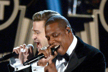 Jay-Z Justin Timberlake The 55th Annual GRAMMY Awards - Show