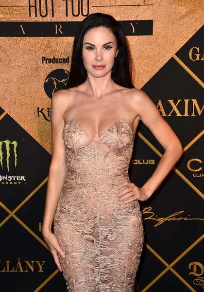 Maxim Hot 100 Party - Arrivals [dress,clothing,fashion model,shoulder,cocktail dress,strapless dress,hairstyle,premiere,fashion,long hair,arrivals,jayde nicole,hollywood palladium,los angeles,california,maxim hot 100,maxim hot 100 party]