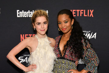 Jaz Sinclair Entertainment Weekly And Netflix Host As Screening Of 'The Chilling Adventures Of Sabrina' Pt 2 In New York