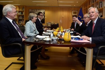 Jean-Claude Juncker Theresa May Visits Brussels as Brexit Breakthrough Is Announced