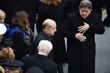 Jean Luc Melenchon National Tribute to the Victims of The Paris Terrorist Attacks at Les Invalides In Paris