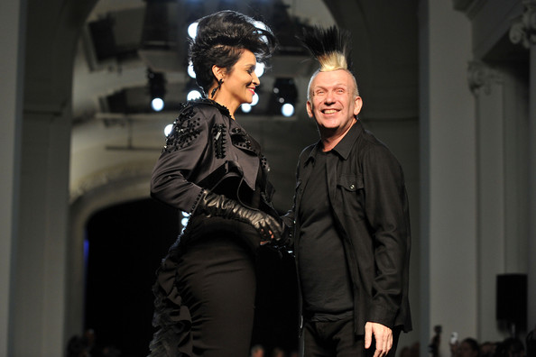 Farida Khelfa and Jean Paul Gaultier - Jean-Paul Gaultier - Runway - Paris Fashion Week Haute Couture S/S 2011