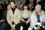 (L-R) Irina Shayk, Derek Blasberg, Kate Graham and Line Renaud attend the Jean-Paul Gaultier Haute Couture Spring Summer 2019 show as part of Paris Fashion Week on January 23, 2019 in Paris, France.