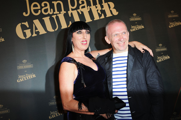 Photo of Jean Paul Gaultier & his friend  Rossy De Palma