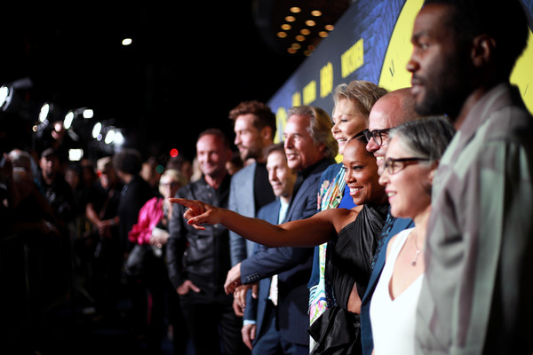 """Premiere Of HBO's """"Watchmen"""" - Red Carpet [people,crowd,event,youth,performance,audience,night,team,red carpet,tom mison,damon lindelof,regina king,don johnson,jean smart,l-r,hbo,premiere,premiere]"""