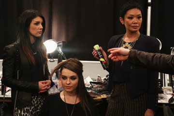 Jeanie Syfu TRESemme At Tracy Reese - Backstage - Fall 2013 Mercedes-Benz Fashion Week