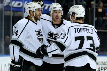 Jeff Carter Tyler Toffoli Los Angeles Kings v New York Rangers