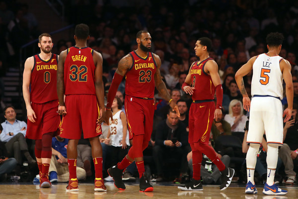 Cleveland Cavaliers v New York Knicks [photograph,player,sports,basketball player,team sport,ball game,tournament,basketball moves,team,basketball court,basketball,lebron james,user,user,note,terms,madison square garden,cleveland cavaliers,new york knicks,play]