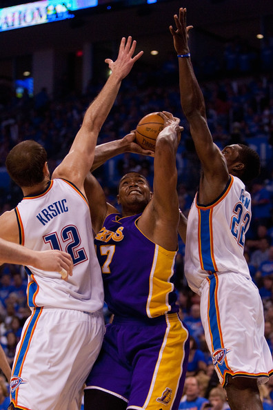 Jeff Green and Nenad Krstic - Los Angeles Lakers v Oklahoma City Thunder, Game 6