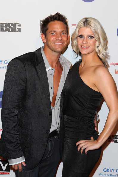 Jeff Timmons and wife arrive at the 6th Annual Primary Wave Music Pre    Trisha Sperry Timmons