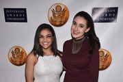 US Olympic Gymnast Laurie Hernandez and Lillian Pravda, CEO of Vision For and From Children attend the Jefferson Awards Foundation 2017 NYC National Ceremony at Gotham Hall on March 15, 2017 in New York City.