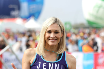 Jenni Falconer Celebrities Participate in the Virgin London Marathon