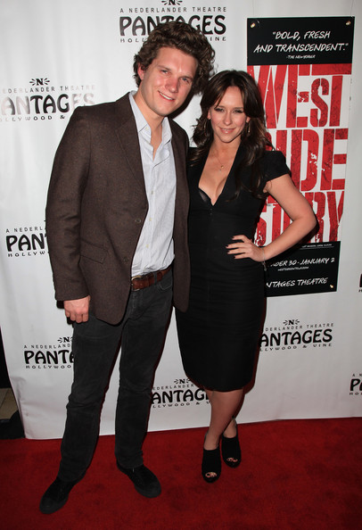 """Opening Night Of """"West Side Story"""" At The Pantages Theatre - Red Carpet [west side story,carpet,red carpet,premiere,suit,event,flooring,dress,formal wear,little black dress,tuxedo,jennifer love hewitt,jamie kennedy,pantages theatre,california,hollywood,red carpet]"""