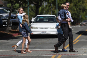 Jennifer Siebel Newsom California Gubernatorial Candidate Gavin Newsom Votes In State's Primary