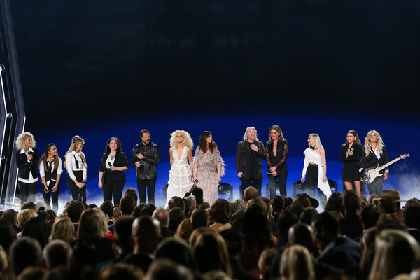 The 53rd Annual CMA Awards - Show [performance,entertainment,performing arts,concert,event,stage,music,public event,performance art,crowd,l-r,cma awards,show,naomi cooke,jennifer wayne,karen fairchild,jimi westbrook,kimberly schlapman,phillip sweet,ashley mcbryde]
