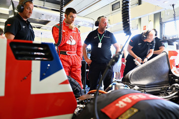Jenson Button Santander Ambassador Jenson Button Meets Guy Martin At the 2018 F1 British Grand Prix