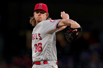 Jered Weaver Los Angeles Angels of Anaheim v Texas Rangers