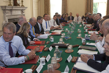 Jeremy Hunt Prime Minister David Cameron Chairs The First Cabinet Meeting Following The Ministerial Reshuffle