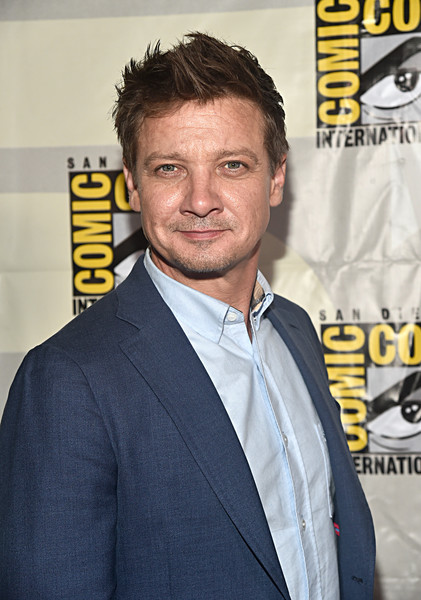 Marvel Studios Hall H Panel [premiere,forehead,facial hair,white-collar worker,event,suit,fictional character,moustache,smile,beard,jeremy renner,hawkeye,hall h,san diego,california,marvel studios hall h panel,marvel studios panel,san diego comic-con international]