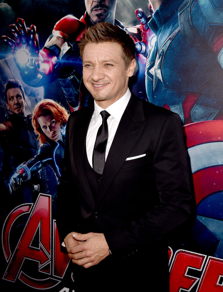 Premiere Of Marvel's 'Avengers: Age Of Ultron' - Red Carpet [avengers: age of ultron,red carpet,event,fictional character,captain america,premiere,suit,jeremy renner,california,hollywood,dolby theatre,marvel,premiere]