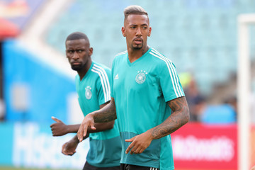 Jerome Boateng Germany Training And Press Conference