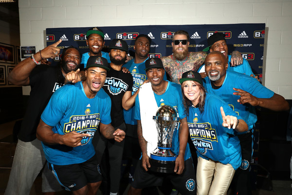 BIG3 - Championship [social group,team,youth,event,competition event,drink,t-shirt,party,crew,competition,big3 - championship,power,barclays center,brooklyn,new york,company,big3 championship]