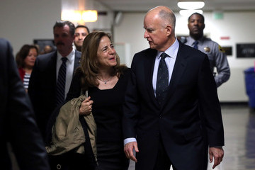 Jerry Brown Anne Gust-Brown Gov. Jerry Brown Submits Paperwork For Re-Election