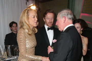 Jerry Hall The Prince of Wales Attends The Pre-Dinner Reception For The Prince's Trust 'Invest In Futures' Gala