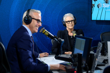 Jess Cagle Jamie Lee Curtis Visits The SiriusXM Hollywood Studio