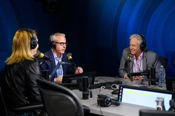 Jess Cagle Julia Cunningham Michael Douglas Visits The SiriusXM Hollywood Studios In Los Angeles