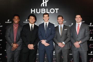 Jesse Palmer Hublot Announces Eli Manning As New Brand Ambassador With Limited Edition Timepiece