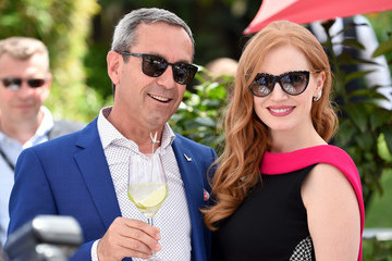 Jessica Chastain The Hollywood Reporter And DIRECTV Celebrate '355' At The Grey Goose Terrace - The 71st Annual Cannes Film Festival