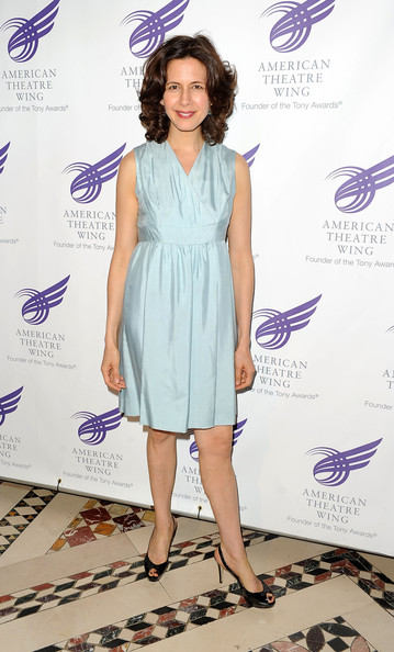 2010 American Theatre Wing Spring Gala [clothing,dress,lavender,cocktail dress,footwear,fashion model,carpet,pattern,fashion design,new york city,cipriani 42nd street,american theatre wing spring gala,jessica hecht]