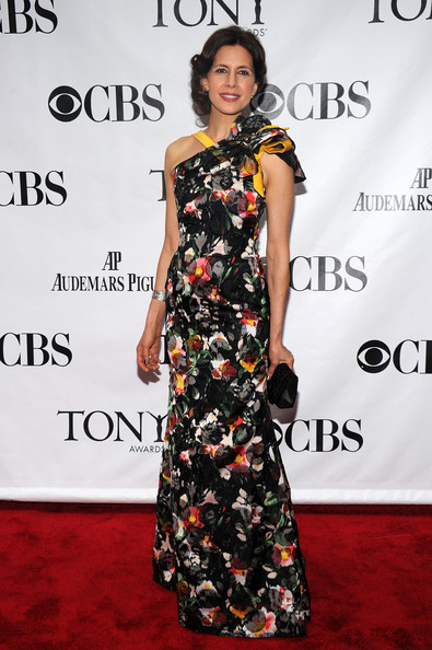 64th Annual Tony Awards - Arrivals [fashion model,clothing,dress,red carpet,carpet,shoulder,premiere,fashion,flooring,joint,arrivals,jessica hecht,tony awards,new york city,radio city music hall,64th annual tony awards]