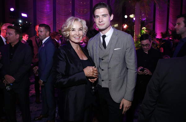 'The Politician' New York Premiere After Party [event,fashion,suit,purple,fun,formal wear,night,smile,performance,photography,david corenswet,jessica lange,new york,the pool,party,the politician,premiere,party]